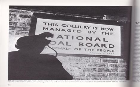 Sign post  when the collieries, where took over by the National coal board.