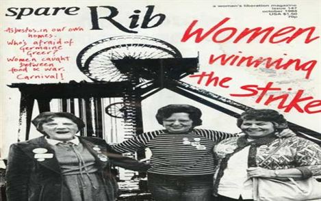 "Miners wives ""women winning the strike"" poster."